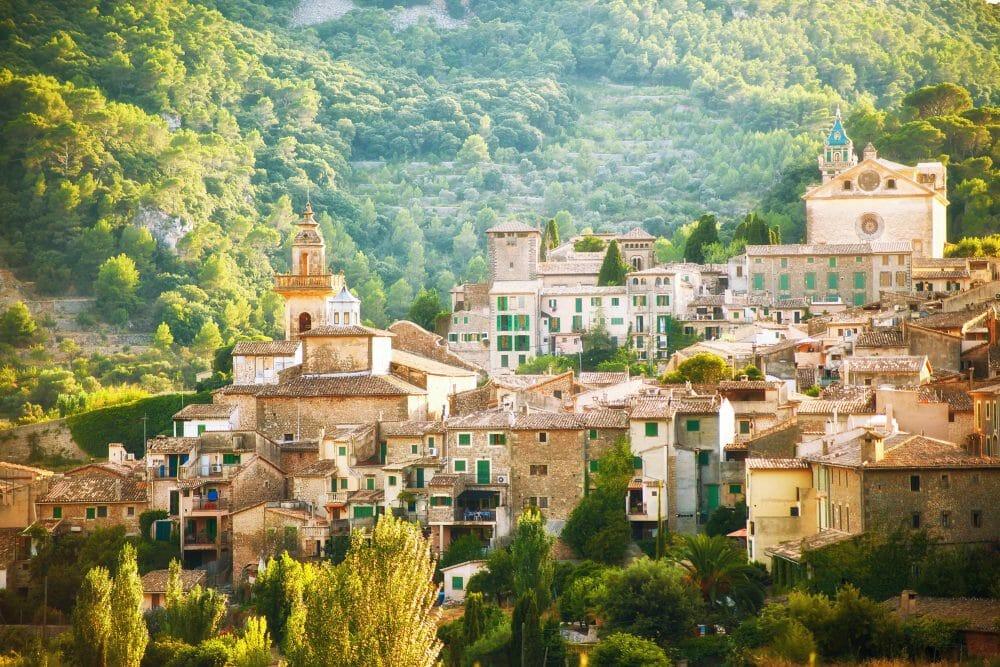 Mountain village Valldemosa in Mallorca, Spain